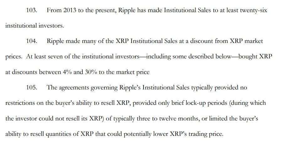 Ripple XRP Sales