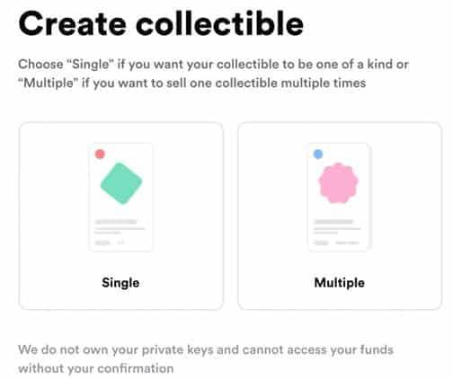 Creating collectible Rarible
