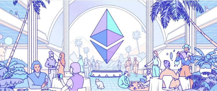 Ethereum's landing page