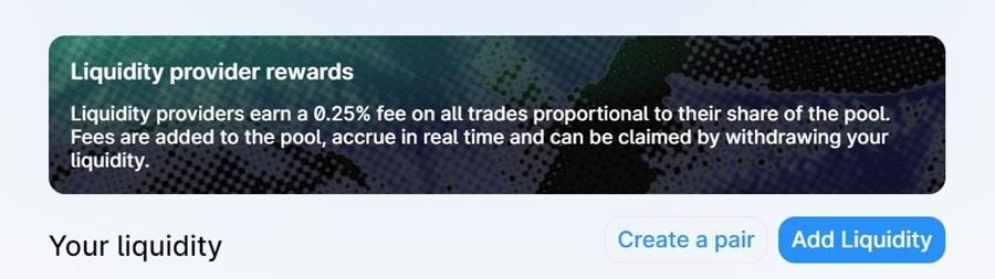 QuickSwap Liquidity Provider
