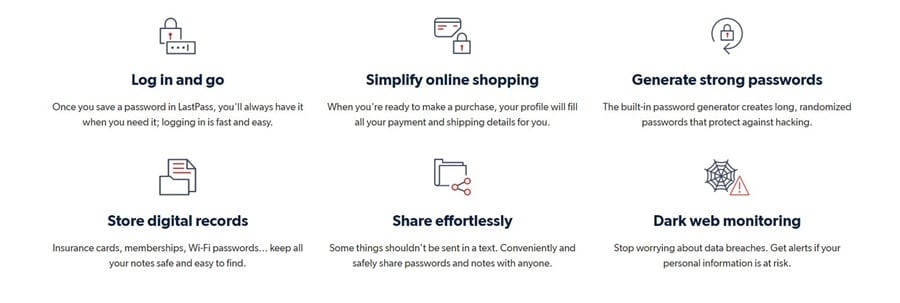 LastPass Features