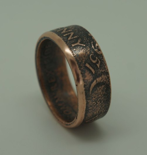 1951-Australian-penny-coin-ring-3-size-11-25