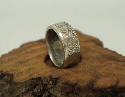 1953-1963-Australian-Florin-silver-coin-ring-11