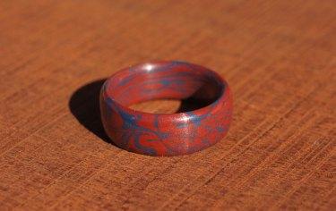 red-blue-fire-mokume-gane-coin-carnival-2
