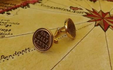 Australian penny cuff links