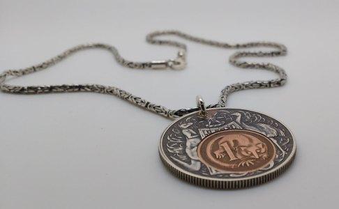 1966-Australian-50-cent-1966-1-cent-silver-chain-3