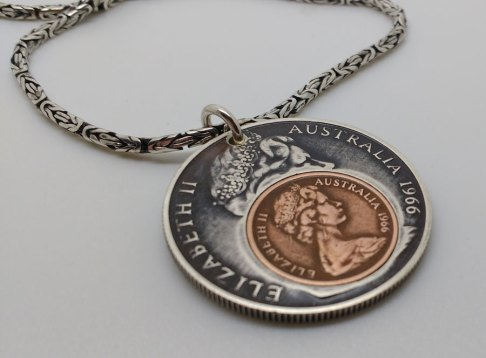 1966-Australian-50-cent-1966-1-cent-silver-chain-5