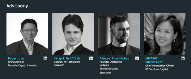 A section of the SelfKey advisory team