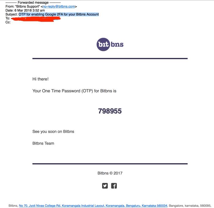 Bitbns admin hacks user account