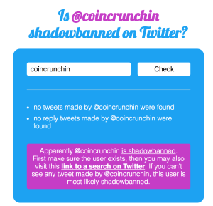 we got shadow banned on twitter