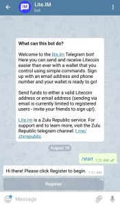 You can send Litecoin from Telegram Messenger, Here's How! - Coin