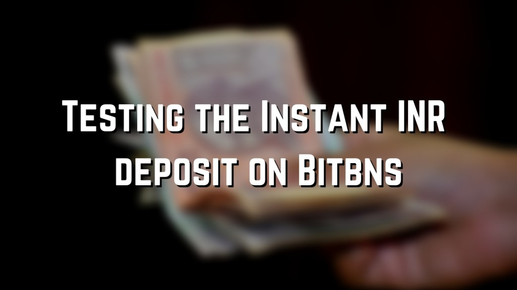 INR deposits instant on bitbns