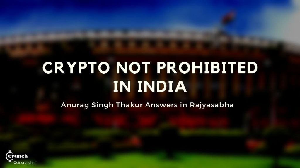 Cryptocurrencies are not prohibited in india says anurag thakur in parliament