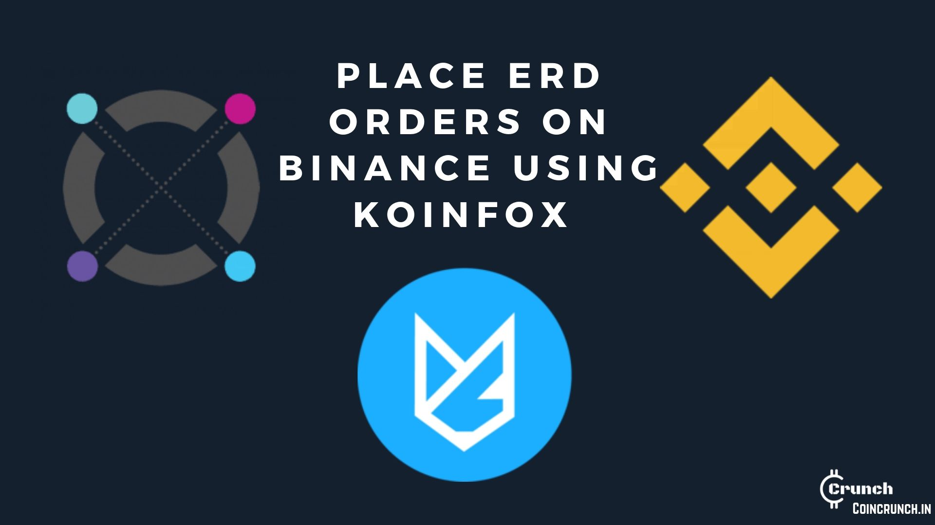 placing orders for ERD before it is listed on Binance using Koinfox