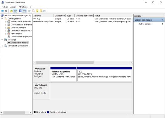 comment faire partition de son disque dur