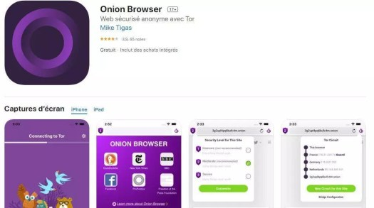 Onion browser - darknet sur iphone