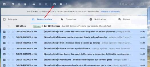 effacer emails gmail
