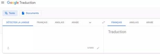 site de traduction - google translate