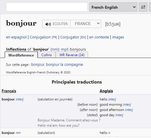 Wordreference.com translator