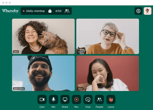 Whereby - visio conférence gratuit