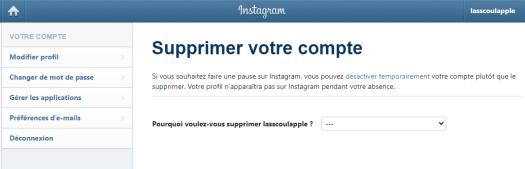 comment supprimer un compte instagram sur téléphone