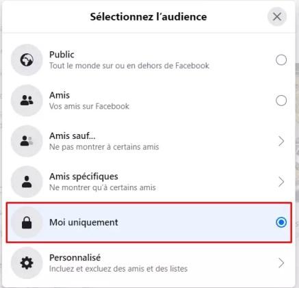 cacher ses amis sur Facebook