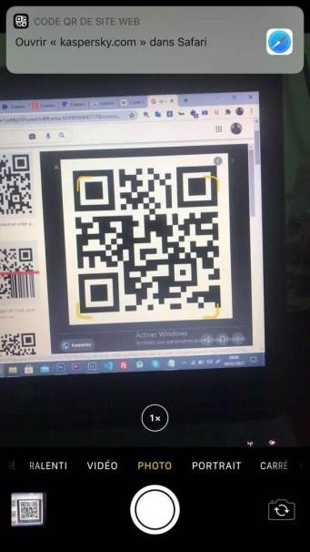 comment scanner un qr code sur iPhone