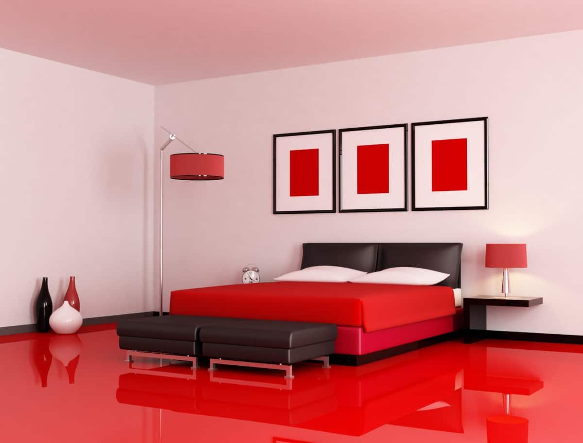 decoration couleur la chambre rouge