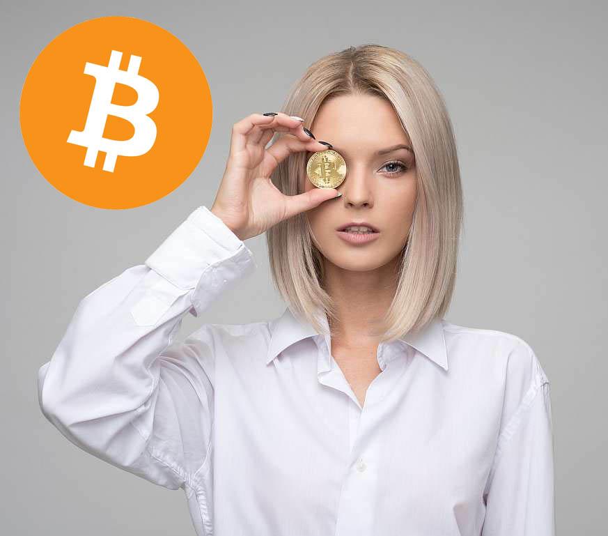 woman-bitcoin
