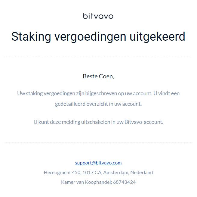 cryptocurrency staking bewijs uitbetaling
