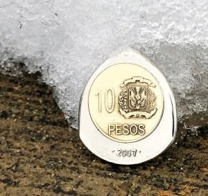Dominican Republic 10 Pesos Coin Guitar Pick, Coin Guitar Picks
