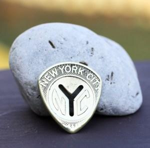 NYC Transit Token Coin Guitar Pick, Coin Guitar Picks