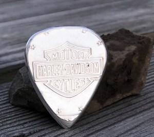 Harley Davidson 999 silver Shovelhead 1 Coin Guitar Pick, Coin Guitar Picks