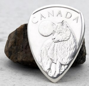 2011 Canada 999% Fine Silver Wolf 1 Coin Guitar Pick, Coin Guitar Picks