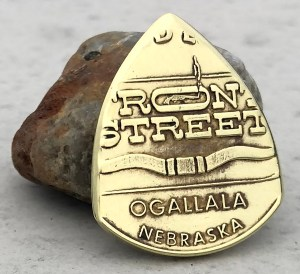 Front Street Ogallala, Nebraska Token Coin Guitar Pick, Coin Guitar Picks