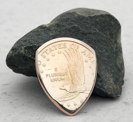 US Sacagawea Dollar (Random Year) 1 Coin Guitar Pick, Coin Guitar Picks