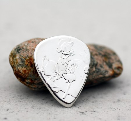 2018 Niue Scrooge McDuck 999 Fine Silver 2 Coin Guitar Pick, Coin Guitar Picks