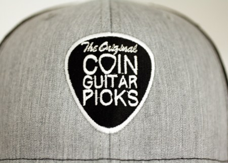 The Original Coin Guitar Picks Hat close up
