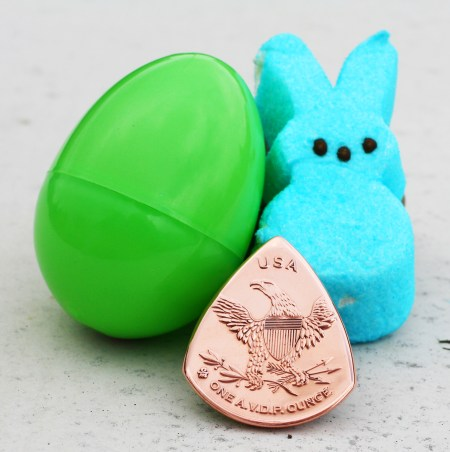 Happy Easter Copper Round Back Coin Guitar Pick, Coin Guitar Picks