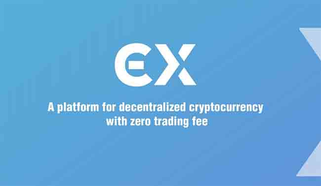 ECX: a platform for decentralized cryptocurrency with zero trading fee