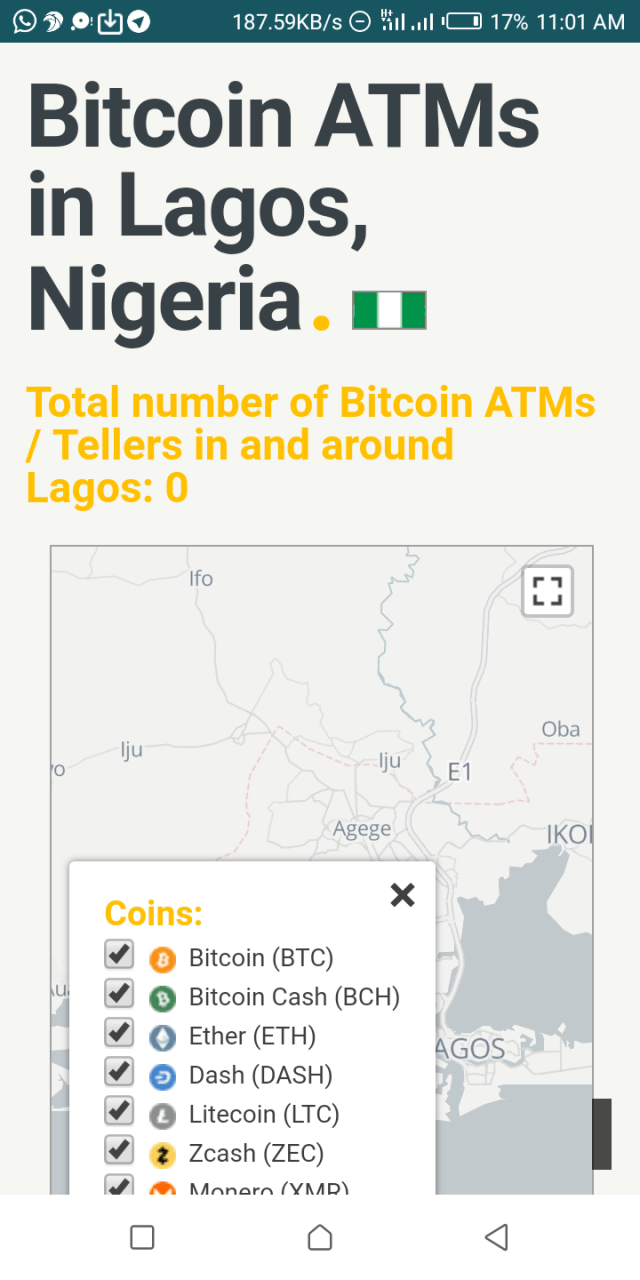 Bitcoin ATM in Nigeria
