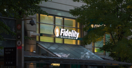 An image of one of Fidelity Investments offices