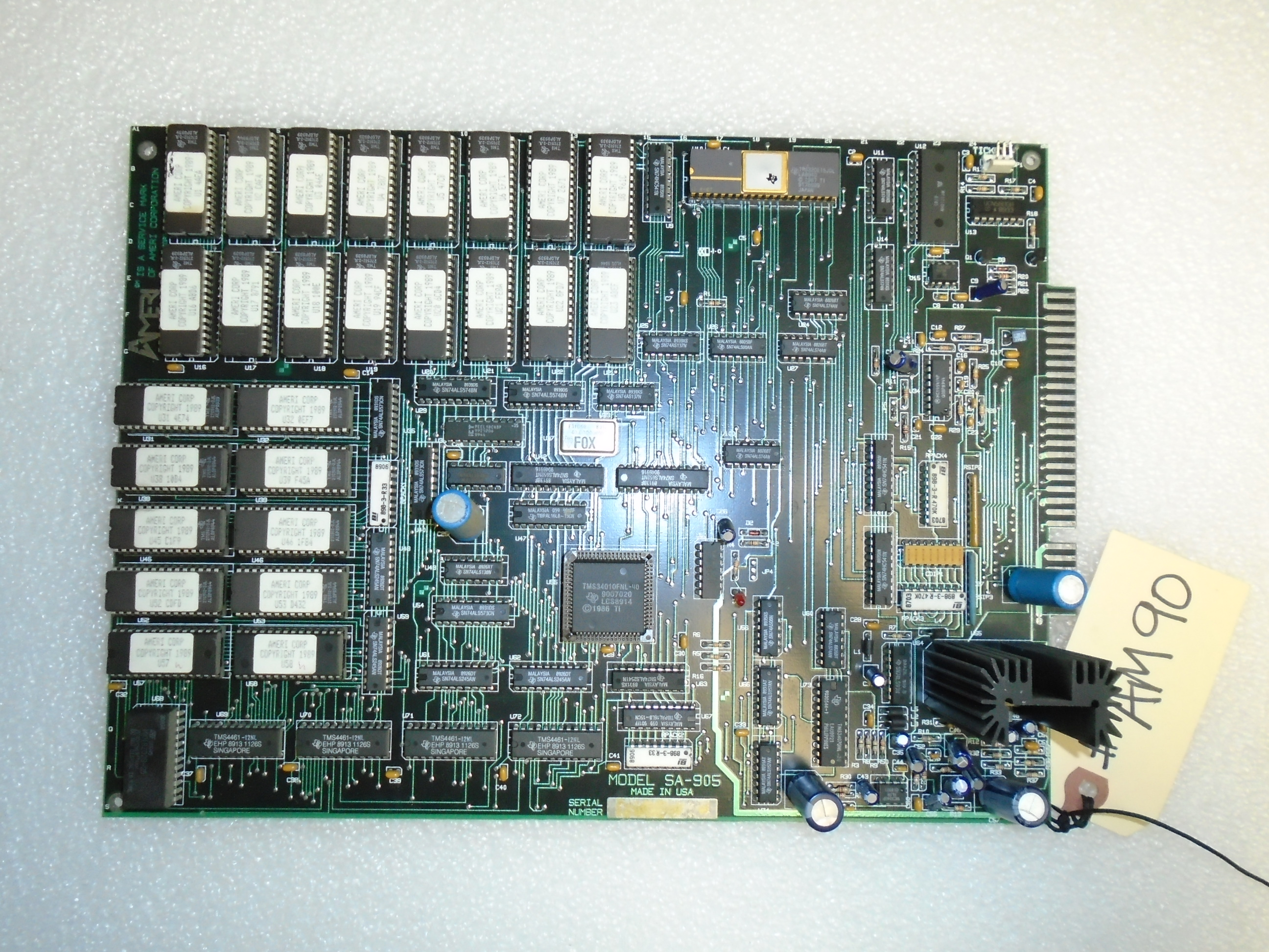 AMERIDARTS Arcade Machine Game PCB Printed Circuit JAMMA