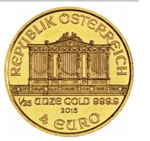 Φιλαρμονική της Βιεννης, Αυστρία, 4€, 1/25 oz, Χρυσός 24K 2015