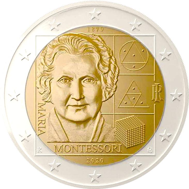 2 ευρω Ιταλια 2020 Μοντεσορι