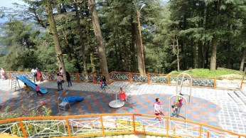 Play area for kids at Jakhuji temple complex