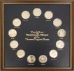 "Thirteen sterling silver ""Official Bicentennial Medals of the Thirteen Original States."""