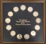 """Thirteen sterling silver """"Official Bicentennial Medals of the Thirteen Original States."""""""