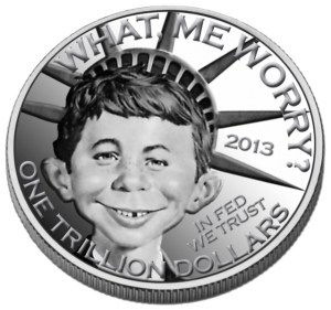 Heritage Auctions asked the public to proposed design for the coin trillion dollar coin.