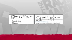 MSNBC on-air comparison of Jack Lew's autograph